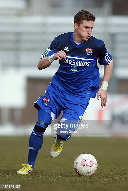 Tobias Schweinsteiger of Unterhaching in action during the Third League match between SpVgg Unterhaching and VfL Osnabrueck at Generali Arena...