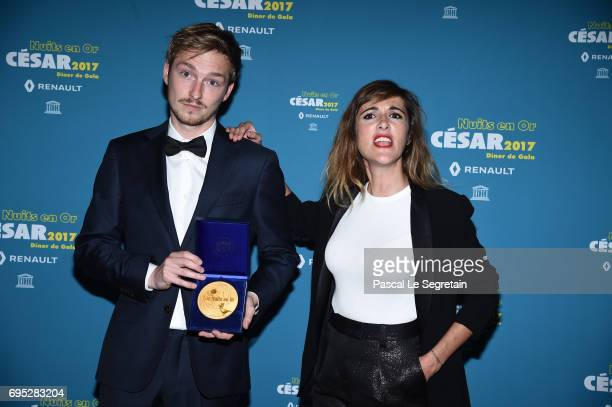 Tobias Smeet and Victoria Bedos attend 'Les Nuits en Or 2017' Dinner Gala on June 12 2017 in Paris France
