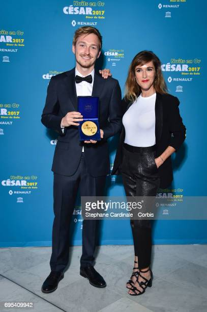 Tobias Smeet and Victoria Bedos attend 'Les Nuits en Or 2017' Dinner Gala at Unesco on June 12 2017 in Paris France