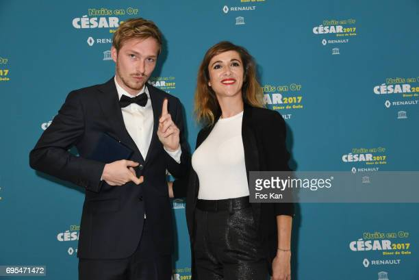 Tobias SmeetÊand Victoria Bedos attend 'Les Nuits en Or 2017' Dinner Gala Photocall at UNESCO on June 12 2017 in Paris France