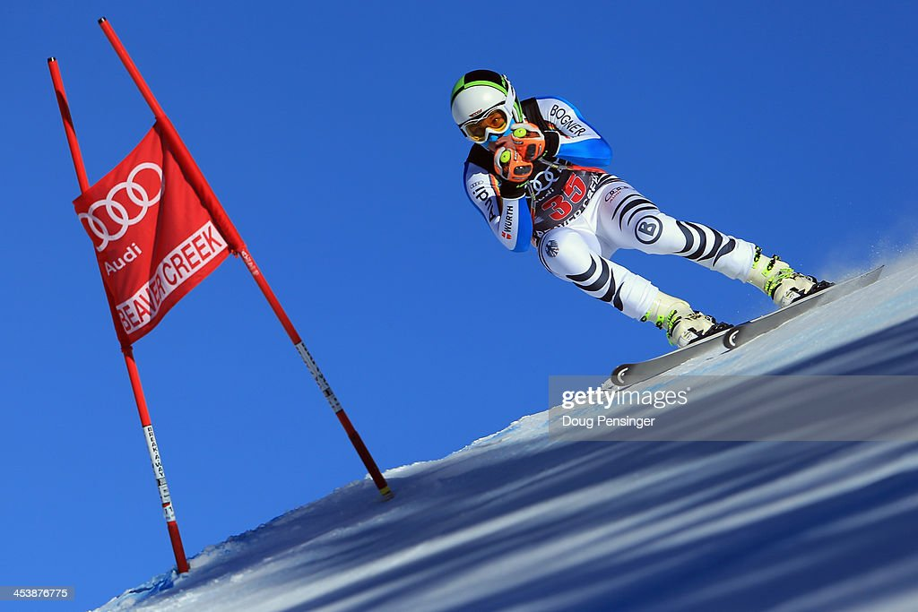 Tobias Stechert of Germany in action during downhill training for the Birds of Prey Audi FIS Ski World Cup on December 5, 2013 in Beaver Creek, Colorado.