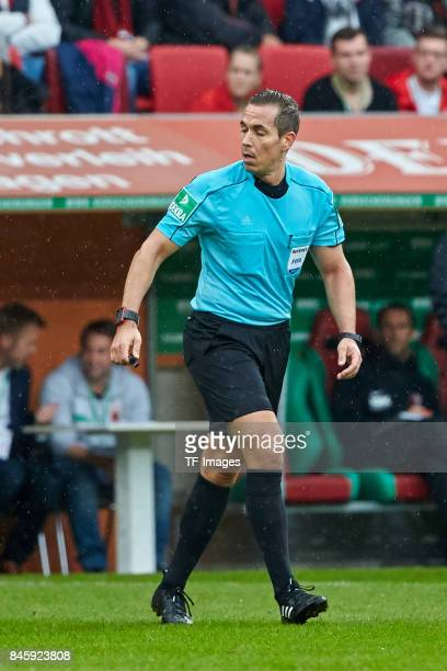 Tobias Stieler looks on during the Bundesliga match between FC Augsburg and 1 FC Koeln at WWKArena on September 9 2017 in Augsburg Germany