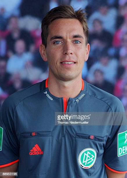 Tobias Stieler poses during the German Football Association referee meeting on July 9 2009 in Altensteig Germany