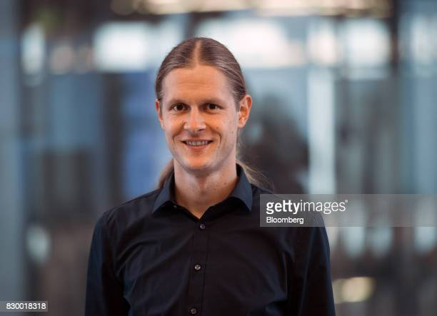 Tobias Stoeckel IT architect at International Business Machines Corp poses for a photograph at the IBM Watson cognitive computing platform Internet...