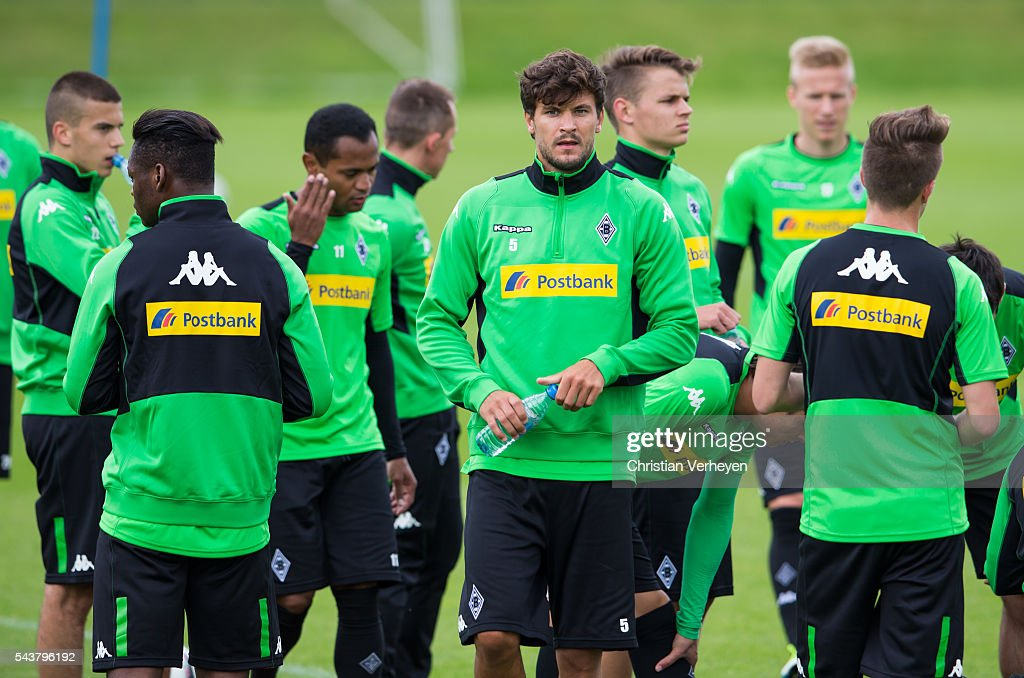 Tobias Strobl during a training session at Borussia-Park on June 30, 2016 in Moenchengladbach, Germany.
