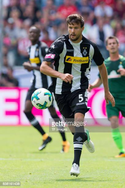 Tobias Strobl of Gladbach controls the ball during the Telekom Cup 2017 match between Borussia Moenchengladbach and Werder Bremen at on July 15 2017...