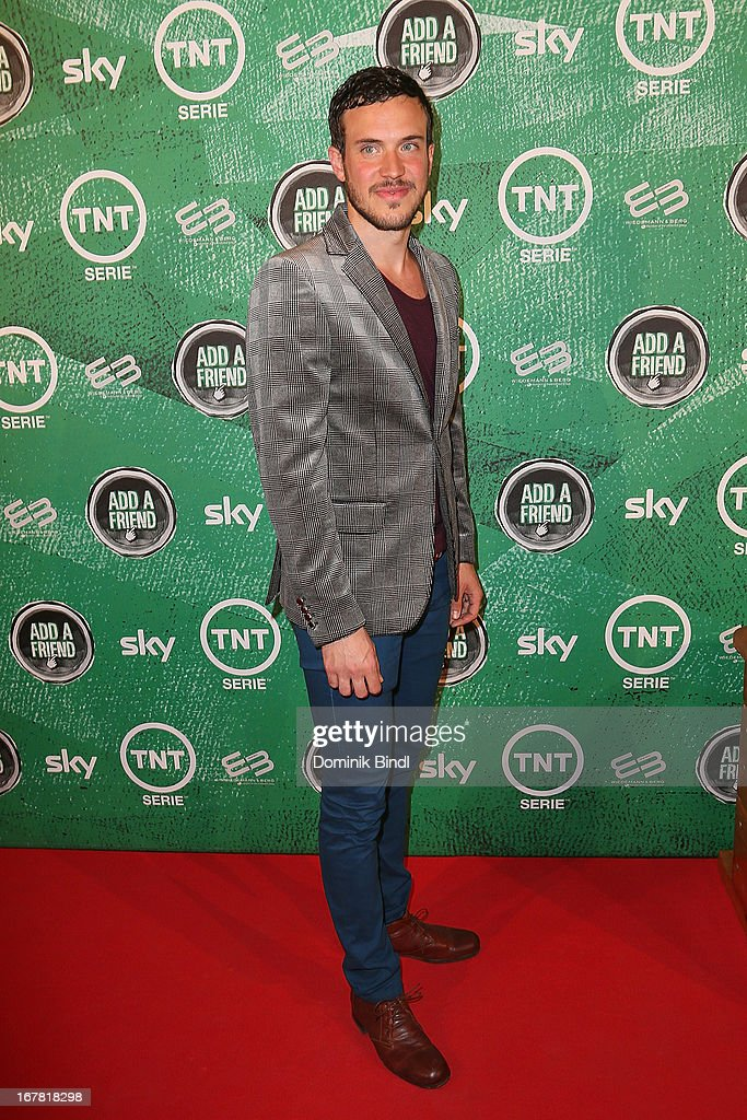 Tobias van Dieken attends 'Add a Friend' Preview Event of TNT Serie at Bayerischer Hof on April 30, 2013 in Munich, Germany. The second season series premieres on May 6 (every Monday at 8:15 pm on TNT Serie).