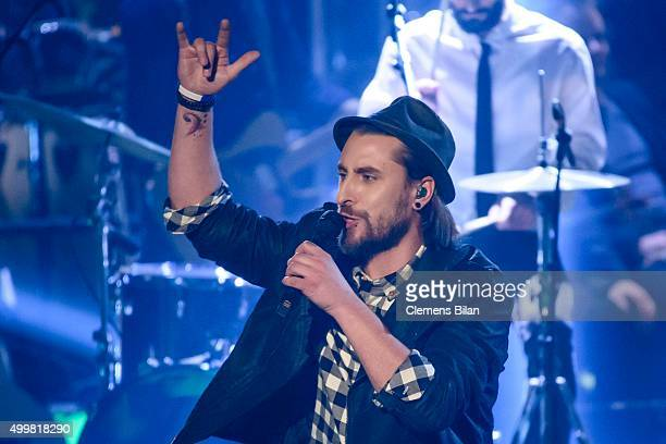 Tobias Vorwerk performs during the The Voice Of Germany 1st Live Show on December 3 2015 in Berlin Germany