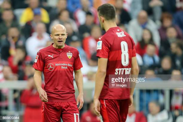 Tobias Werner of Stuttgart Anto Grgic of Stuttgart looks on during the Second Bundesliga match between TSV 1860 Muenchen and VfB Stuttgart at Allianz...