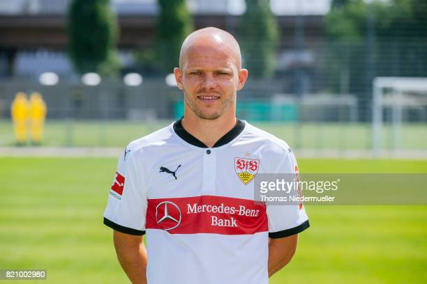 Tobias Werner of VfB Stuttgart poses during the VfB Stuttgart team presentation at training ground on July 21 2017 in Stuttgart Germany