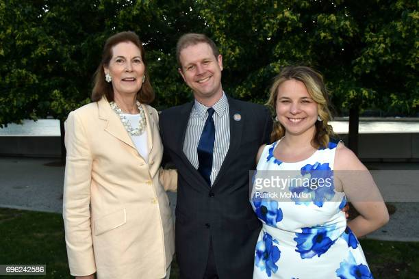 Tobie Roosevelt David Hein and Irene Sankoff attend the Four Freedoms Park Conservancy's Sunset Garden Party honoring Tom Brokaw at Four Freedoms...
