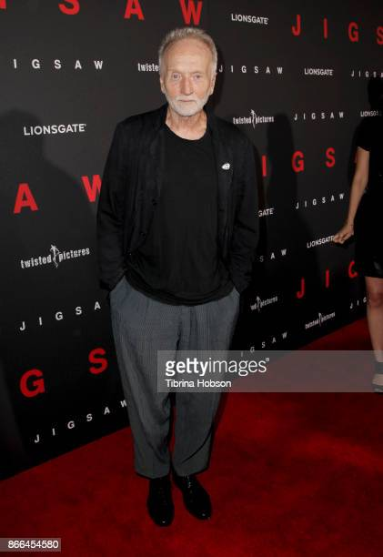 Tobin Bell attends the premiere of Lionsgate's 'Jigsaw' at ArcLight Hollywood on October 25 2017 in Hollywood California