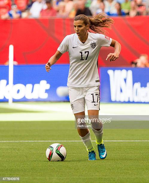 Tobin Heath of the United States runs with the ball during the FIFA Women's World Cup Canada 2015 Group D match between Nigeria and The United States...