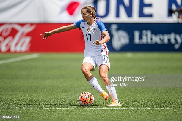 Tobin Heath of the US Women's National Team controls the ball during the first half against Japan during a friendly match on June 5 2016 at...