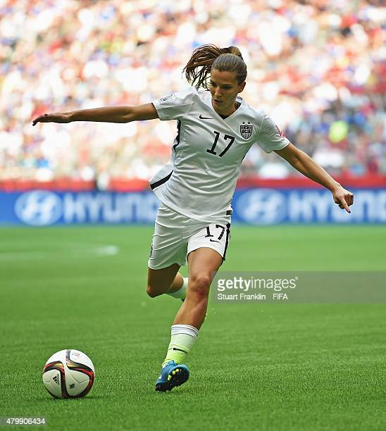 Tobin Heath of USA in action during the FIFA Women's World Cup Final between USA and Japan at BC Place Stadium on July 5 2015 in Vancouver Canada