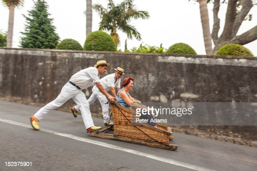Toboggans or Wicker Sledges, Madeira, Portugal