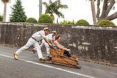 Toboggans or Wicker Sledges, Madeira, Portugal