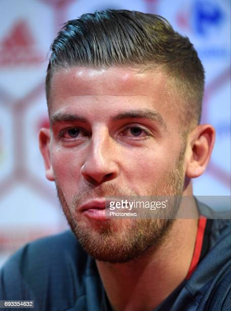 Toby Alderweireld defender of Belgium pictured during a press conference of the Belgian national team prior to the World Cup 2018 qualification match...