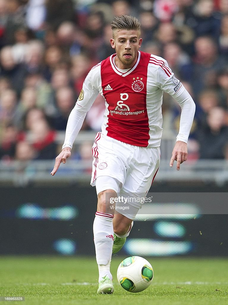 Toby Alderweireld of Ajax during the Dutch Eredivisie match between Ajax Amsterdam and Heracles Almelo at the Amsterdam Arena on April 7, 2013 in Amsterdam, The Netherlands.