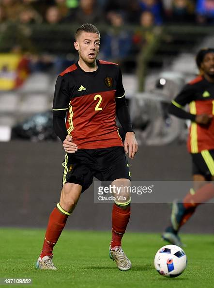 Toby Alderweireld of Belgium in action during the international friendly match between Belgium and Italy at King Baudouin Stadium on November 13 2015...