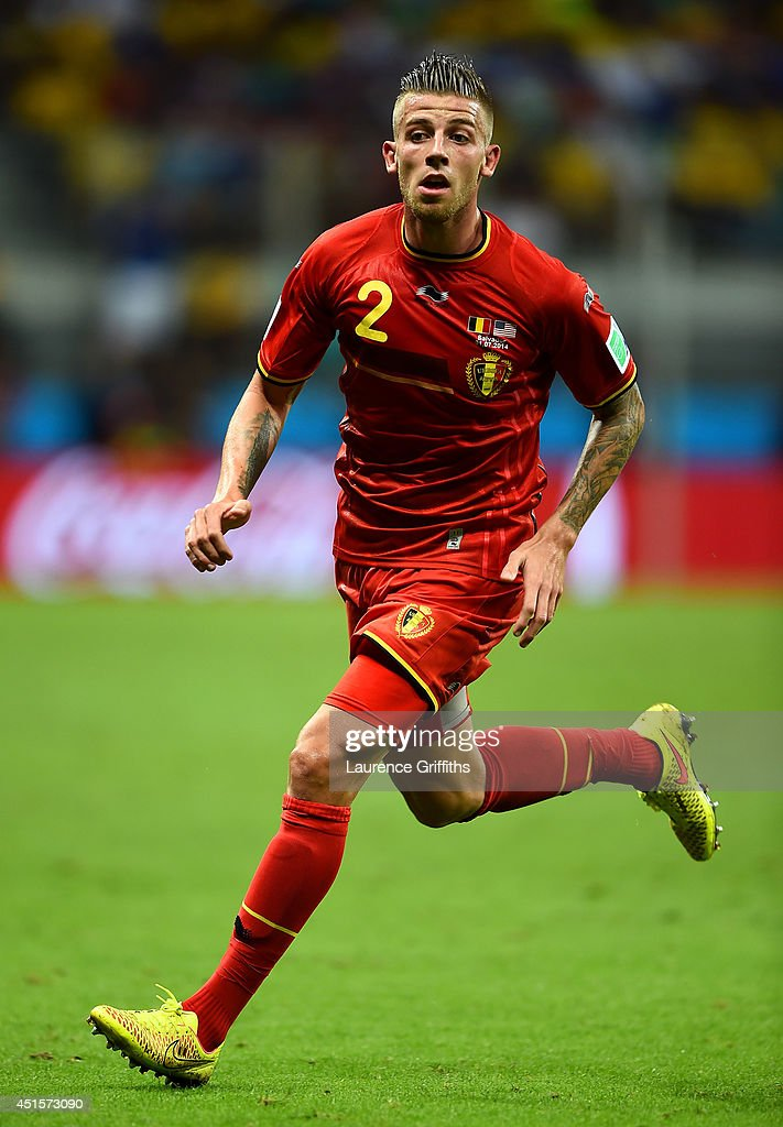 Toby Alderweireld of Belgium looks on during the 2014 FIFA World Cup Brazil Round of 16 match between Belgium and the United States at Arena Fonte...