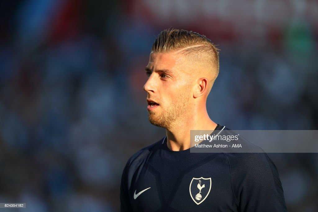 Toby Alderweireld of Tottenham Hotspur during the International Champions Cup 2017 match between Manchester City and Tottenham Hotspur at Nissan Stadium on July 29, 2017 in Nashville, Tennessee.