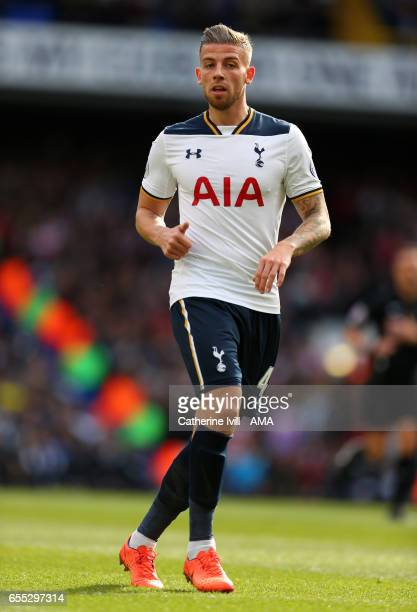 Toby Alderweireld of Tottenham Hotspur during the Premier League match between Tottenham Hotspur and Southampton at White Hart Lane on March 19 2017...