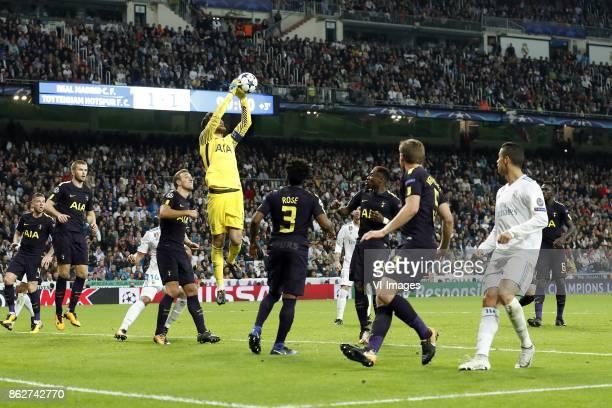 Toby Alderweireld of Tottenham Hotspur FC Eric Dier of Tottenham Hotspur FC Harry Kane of Tottenham Hotspur FC goalkeeper Hugo Lloris of Tottenham...