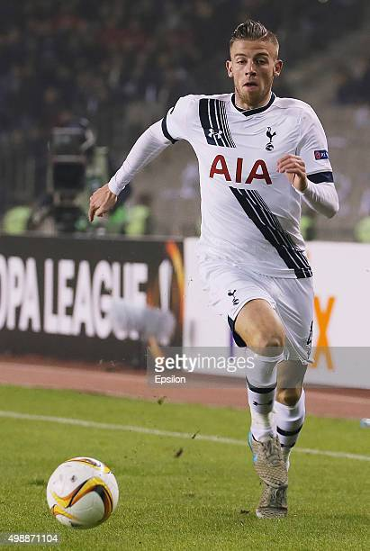 Toby Alderweireld of Tottenham Hotspur FC in action during the UEFA Europe League match between Qarabag FK and Tottenham Hotspur FC at Tofig Bahramov...