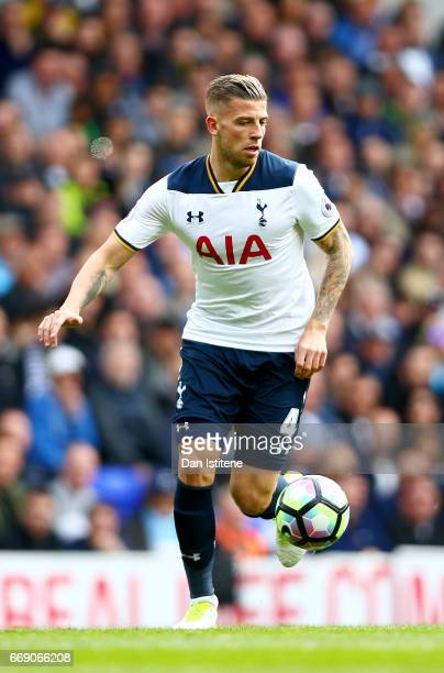 Toby Alderweireld of Tottenham Hotspur runs with the ball during the Premier League match between Tottenham Hotspur and AFC Bournemouth at White Hart...
