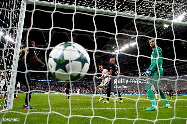 Toby Alderweireld of Tottenham Hotspur scores his sides first goal during the UEFA Champions League match between Tottenham Hotspur FC and AS Monaco...
