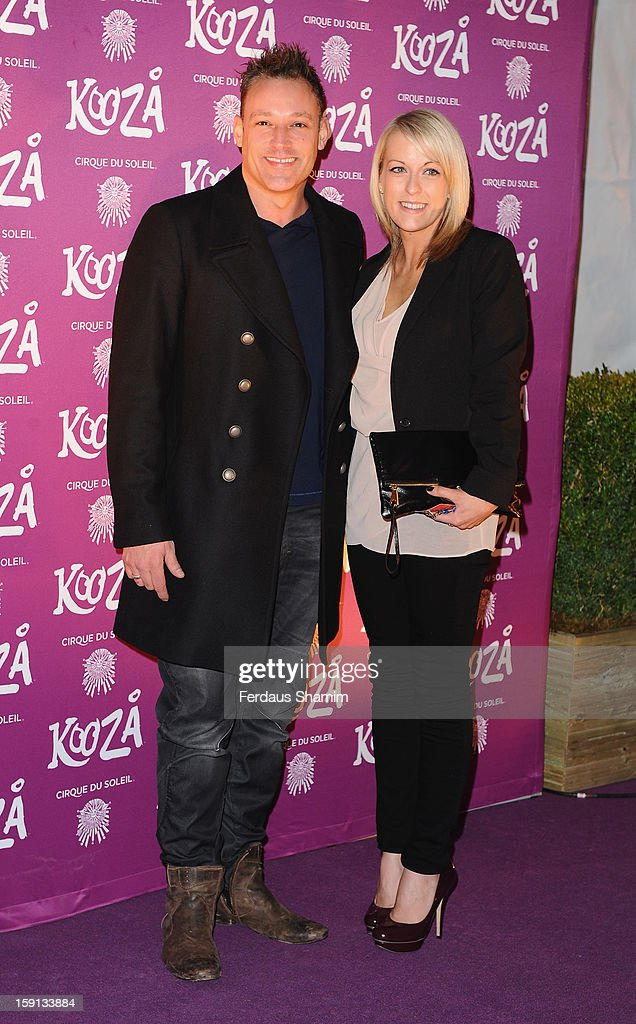 <a gi-track='captionPersonalityLinkClicked' href=/galleries/search?phrase=Toby+Anstis&family=editorial&specificpeople=614678 ng-click='$event.stopPropagation()'>Toby Anstis</a> attends the opening night of Cirque Du Soleil's Kooza at Royal Albert Hall on January 8, 2013 in London, England.