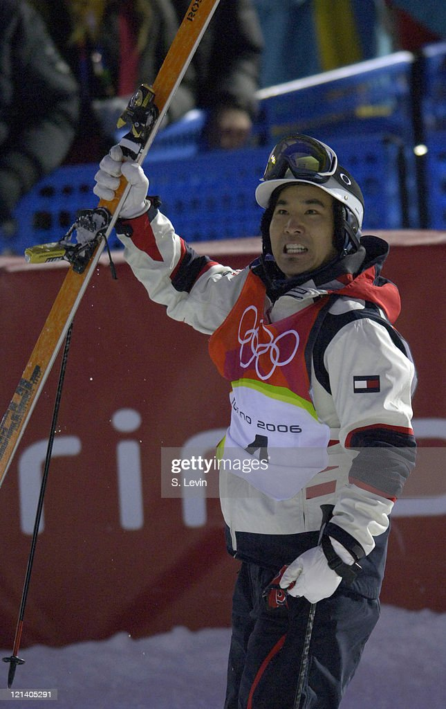<a gi-track='captionPersonalityLinkClicked' href=/galleries/search?phrase=Toby+Dawson&family=editorial&specificpeople=709127 ng-click='$event.stopPropagation()'>Toby Dawson</a> of the United States in action during the Mens Moguls Final at the 2006 Olympic Games in the mountains of Sauze d'Oulx Jouvenceaux, Italy on February 15, 2006. Dawson would take home the Bronze Medal.