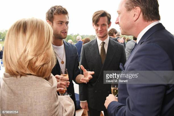 Toby Doyle Douglas Booth Matt Smith and Andrew Doyle attend the Audi Polo Challenge at Coworth Park on May 6 2017 in Ascot United Kingdom