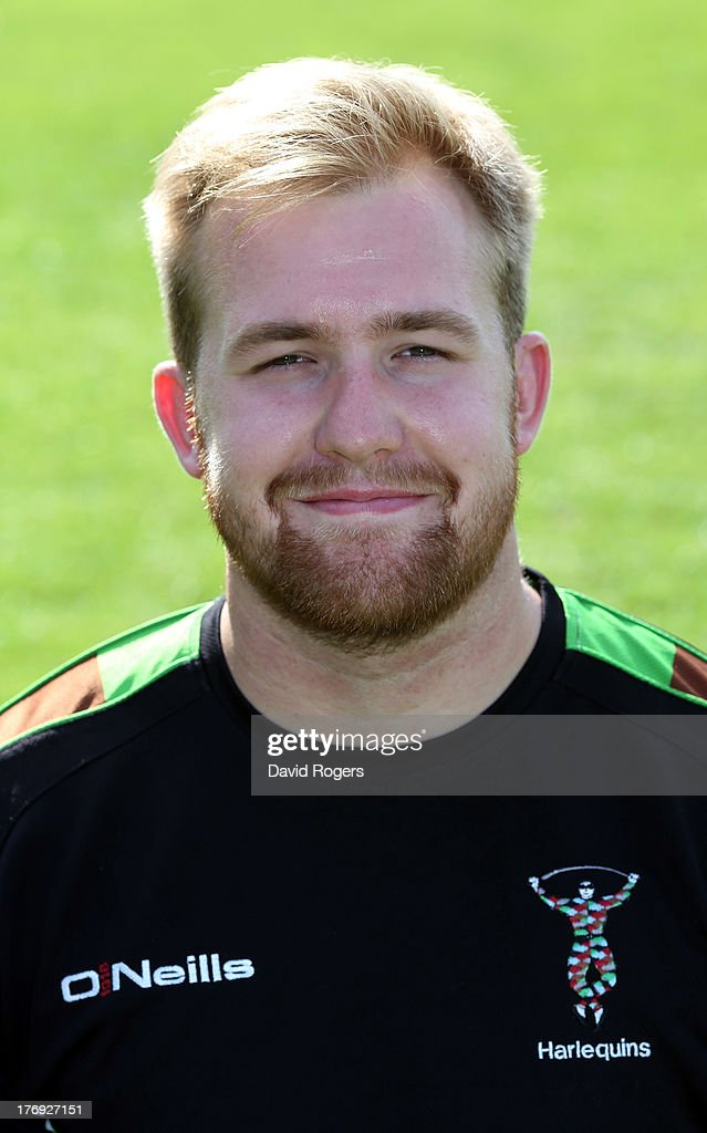 Toby Drake, strength and conditioning intern of Harlequins poses for a portrait at the Surrey Sports Park on August 19, 2013 in Guildford, England.