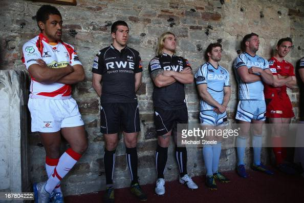 Toby Faletau of Newport Gwent DragonsJustin Tipuric and Richard Hibbard of OspreysLeigh Halfpenny and Alex Cuthbert of Cardiff Blues and George North...