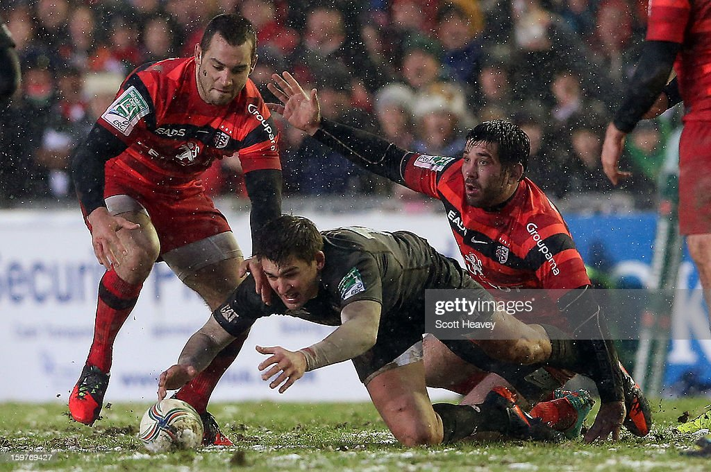<a gi-track='captionPersonalityLinkClicked' href=/galleries/search?phrase=Toby+Flood&family=editorial&specificpeople=551191 ng-click='$event.stopPropagation()'>Toby Flood</a> of Leicester in action during the Heineken Cup match between Leicester Tigers and Toulouse at Welford Road on January 20, 2013 in Leicester, England.