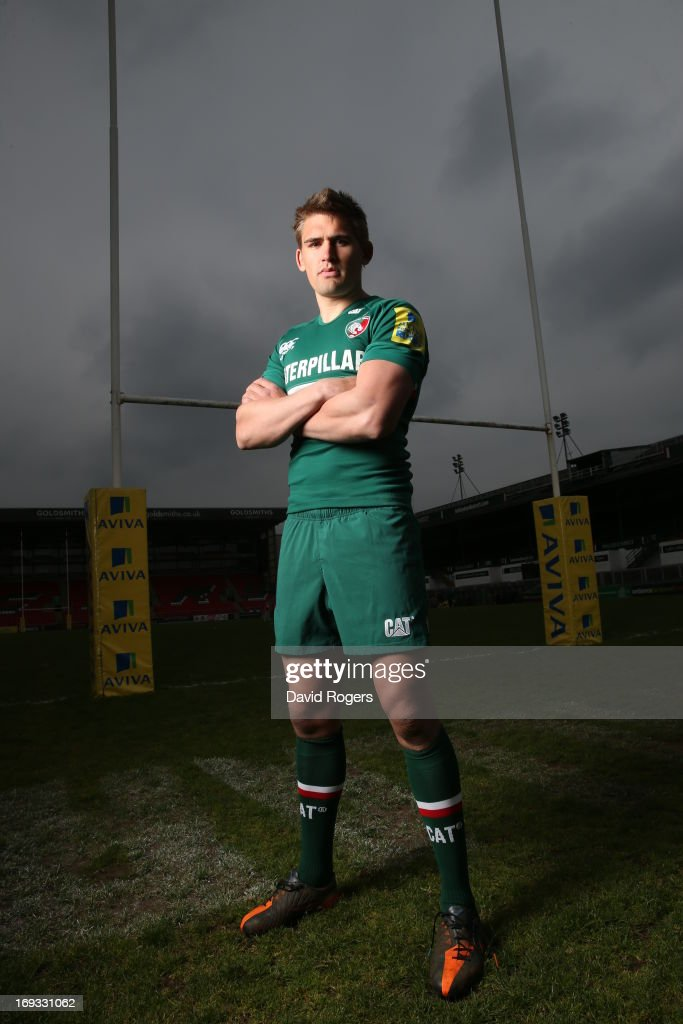 Toby Flood of Leicester Tigers poses for a portrait at Welford Road on May 17 2013 in Leicester England