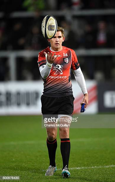 Toby Flood of Toulouse before the European Champions Cup Pool 1 rugby game between Ulster and Toulouse at Kingspan Stadium on December 11 2015 in...