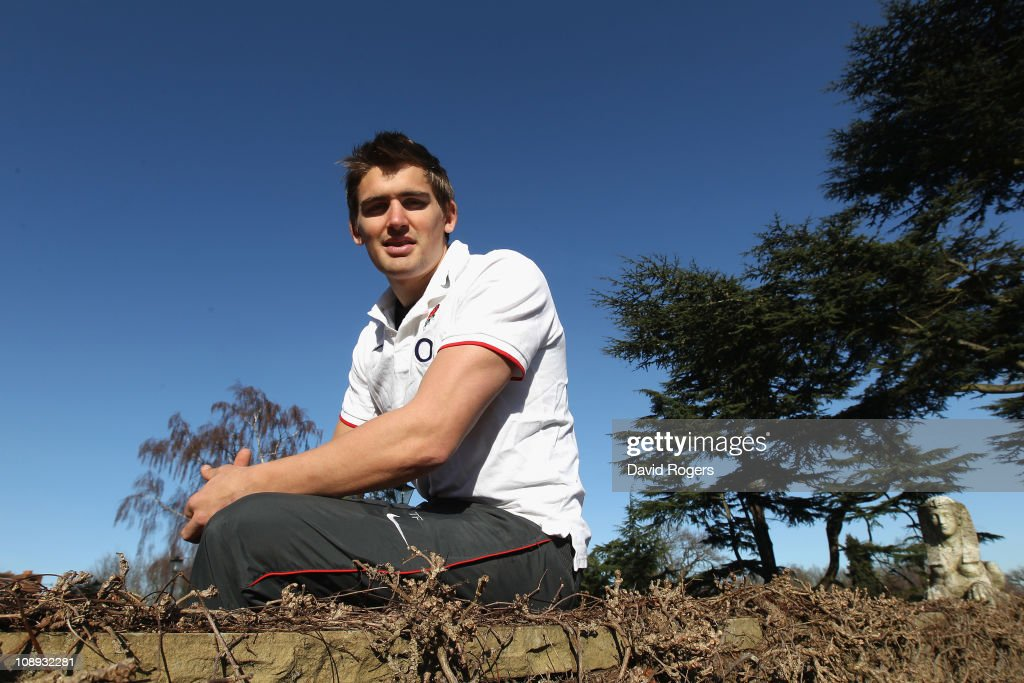 Toby Flood poses during the England media session held at the Pennyhill Park hotel on February 8 2011 in Bagshot England