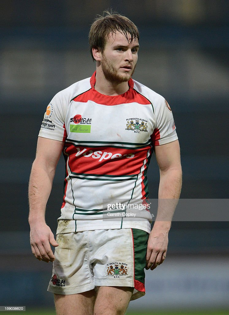 Toby Howley-Berridge of Plymouth during the RFU Championship match between Leeds Carnegie and Plymouth Albion at Headingley Carnegie Stadium on January 6, 2013 in Leeds, England.