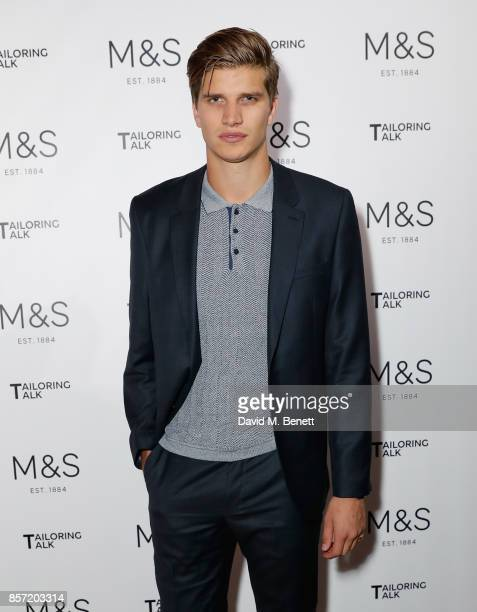 Toby Huntington Whiteley attends the MS Tailoring Talk on October 3 2017 in London England