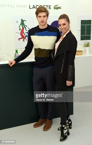 Toby HuntingtonWhiteley and Amber Le Bon attend Lacoste VIP Lounge during 2017 ATP World Tour Semi Finals at The O2 Arena on November 18 2017 in...