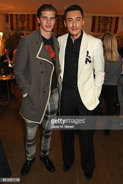 Toby HuntingtonWhiteley and Hu Bing attend a dinner hosted by Dame Vivienne Westwood and The British Fashion Council to celebrate London Fashion Week...