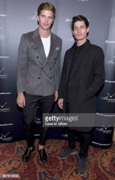 Toby HuntingtonWhiteley and Sam Way attend the Breguet Classic Tour #MyBreguetMoment in association with The Gentleman's Journal at Mark's Club on...