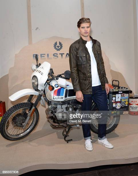 Toby HuntingtonWhiteley attends the Belstaff Presentation during the London Fashion Week Men's June 2017 collections on June 12 2017 in London England