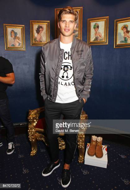 Toby HuntingtonWhiteley attends the iD x Jeremy Scott party presented by UGG at Cafe de Paris on September 14 2017 in London England