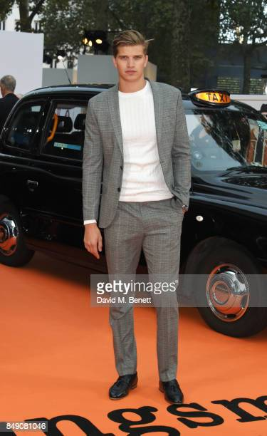 Toby HuntingtonWhiteley attends the World Premiere of 'Kingsman The Golden Circle' at Odeon Leicester Square on September 18 2017 in London England