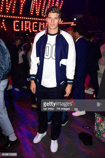 Toby HuntingtonWhiteley during the Tommy Hilfiger Front row during London Fashion Week SS18 held at Roundhouse Chalk Farm Rd London Picture Date...