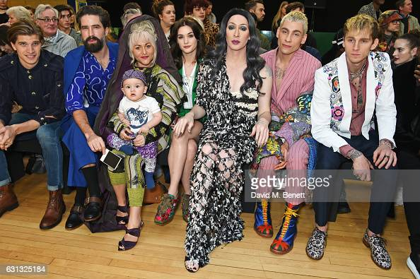 Toby HuntingtonWhiteley Jack Guinness Jaime Winstone with Baby Ray Sai Bennett Detox Icunt Kyle De'Volle and Machine Gun Kelly attend the Vivienne...